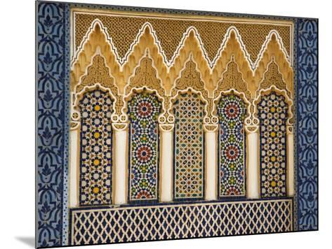 Ornate Architectural Detail Above the Entrance to the Royal Palace, Fez, Morocco, North Africa-John Woodworth-Mounted Photographic Print