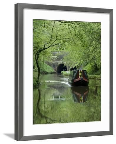 Narrow Boat Cruising the Llangollen Canal, England, United Kingdom, Europe-Richard Maschmeyer-Framed Art Print