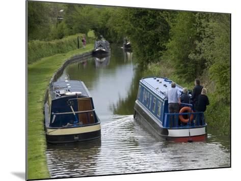 Narrow Boats Cruising the Llangollen Canal, England, United Kingdom, Europe-Richard Maschmeyer-Mounted Photographic Print