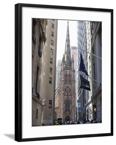 Trinity Church, Broadway and Wall Street-Amanda Hall-Framed Art Print