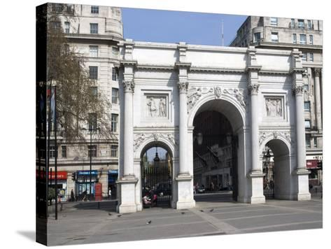Marble Arch and Oxford Street, London, England, United Kingdom, Europe-Ethel Davies-Stretched Canvas Print