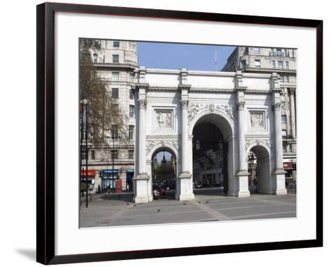 Marble Arch and Oxford Street, London, England, United Kingdom, Europe-Ethel Davies-Framed Art Print