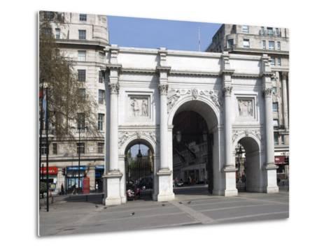 Marble Arch and Oxford Street, London, England, United Kingdom, Europe-Ethel Davies-Metal Print