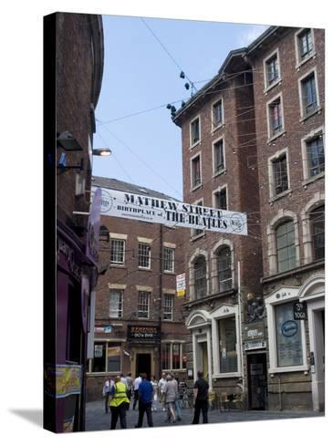 Matthew Street, Site of the Original Cavern Club Where the Beatles First Played-Ethel Davies-Stretched Canvas Print