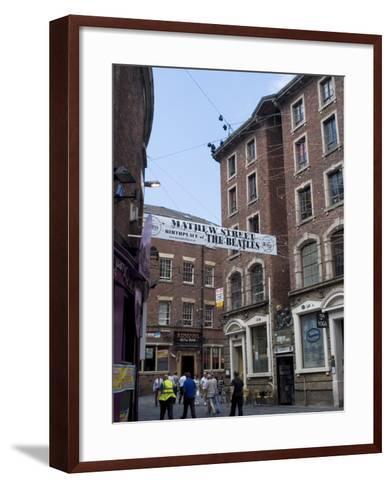 Matthew Street, Site of the Original Cavern Club Where the Beatles First Played-Ethel Davies-Framed Art Print