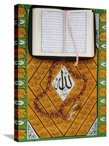 Koran, Rosary and Allah Calligraphy, Paris, France, Europe-Godong-Stretched Canvas Print