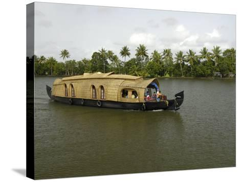 Houseboat in the Backwaters of Alleppey, Kerala, India, Asia-Balan Madhavan-Stretched Canvas Print
