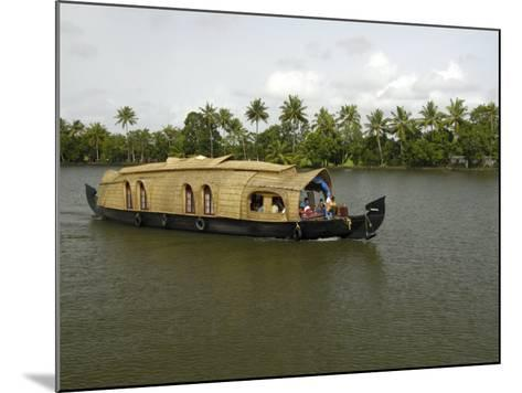 Houseboat in the Backwaters of Alleppey, Kerala, India, Asia-Balan Madhavan-Mounted Photographic Print