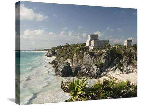 View to the North and El Castillo at the Mayan Ruins of Tulum, Quintana Roo-Richard Maschmeyer-Stretched Canvas Print