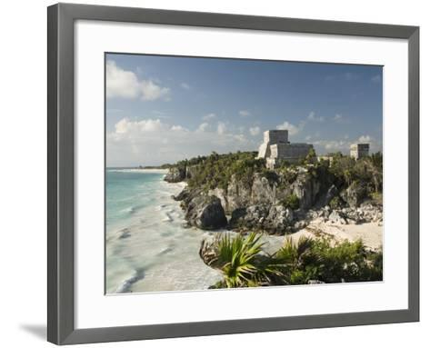 View to the North and El Castillo at the Mayan Ruins of Tulum, Quintana Roo-Richard Maschmeyer-Framed Art Print
