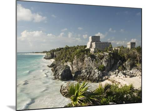 View to the North and El Castillo at the Mayan Ruins of Tulum, Quintana Roo-Richard Maschmeyer-Mounted Photographic Print