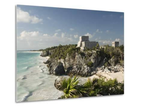 View to the North and El Castillo at the Mayan Ruins of Tulum, Quintana Roo-Richard Maschmeyer-Metal Print