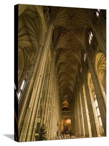 Interior, Canterbury Cathedral, Canterbury, Kent-Ethel Davies-Stretched Canvas Print
