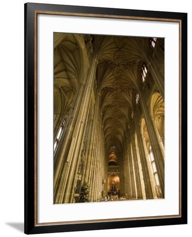 Interior, Canterbury Cathedral, Canterbury, Kent-Ethel Davies-Framed Art Print
