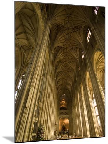 Interior, Canterbury Cathedral, Canterbury, Kent-Ethel Davies-Mounted Photographic Print