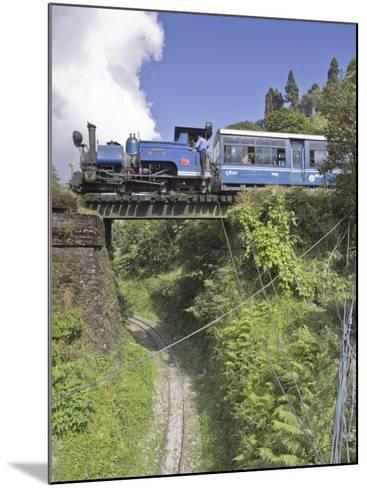 Steam Train of the Darjeeling Himalayan Railway, Batasia Loop, Darjeeling-Jane Sweeney-Mounted Photographic Print