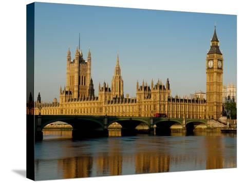 Houses of Parliament and Big Ben, Westminster, London-Charles Bowman-Stretched Canvas Print