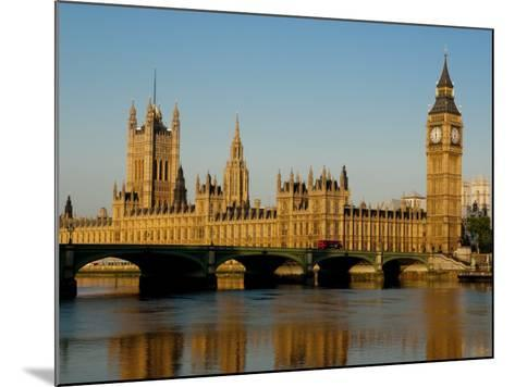 Houses of Parliament and Big Ben, Westminster, London-Charles Bowman-Mounted Photographic Print