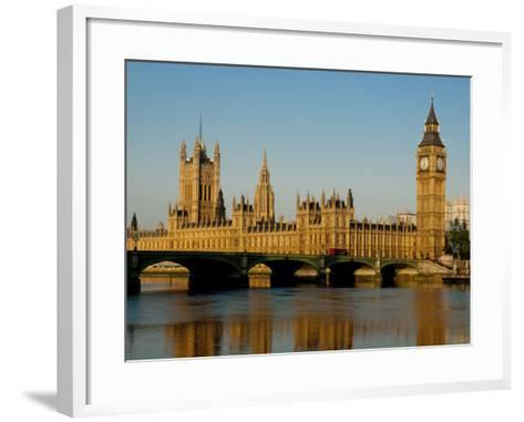 Houses of Parliament and Big Ben, Westminster, London-Charles Bowman-Framed Art Print