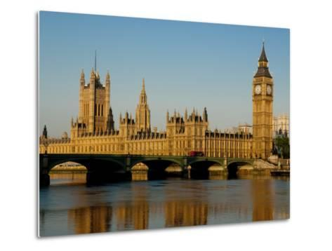 Houses of Parliament and Big Ben, Westminster, London-Charles Bowman-Metal Print