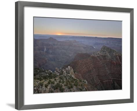 Sunrise at Cape Royal, North Rim, Grand Canyon National Park, Arizona-James Hager-Framed Art Print