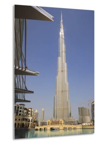 Burj Khalifa, Formerly the Burj Dubai, the Tallest Tower in the World at 818M-Amanda Hall-Metal Print