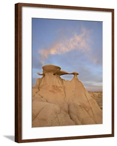 Sunset at the Stone Wings Formation, Bisti Wilderness, New Mexico-James Hager-Framed Art Print