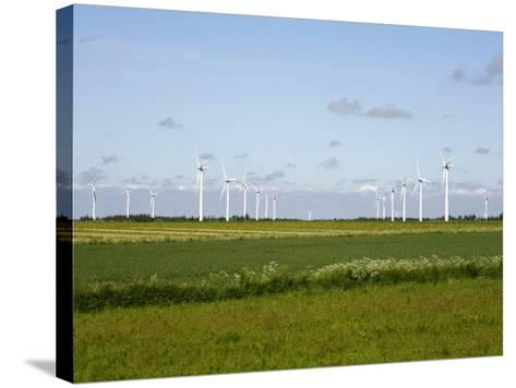 Wind Turbines in South Jutland, Denmark, Scandinavia, Europe-Yadid Levy-Stretched Canvas Print