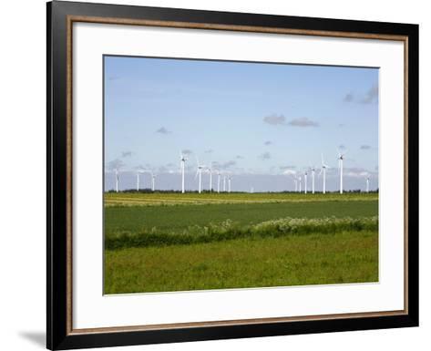 Wind Turbines in South Jutland, Denmark, Scandinavia, Europe-Yadid Levy-Framed Art Print
