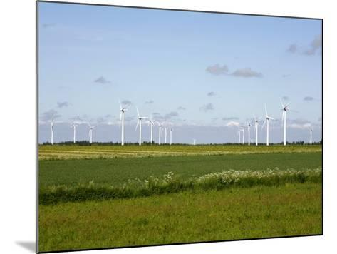 Wind Turbines in South Jutland, Denmark, Scandinavia, Europe-Yadid Levy-Mounted Photographic Print