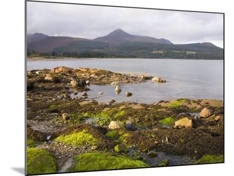 View across Brodick Bay to Goatfell, Brodick, Isle of Arran, North Ayrshire-Ruth Tomlinson-Mounted Photographic Print