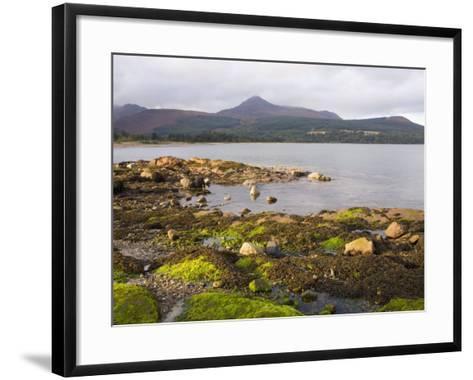 View across Brodick Bay to Goatfell, Brodick, Isle of Arran, North Ayrshire-Ruth Tomlinson-Framed Art Print