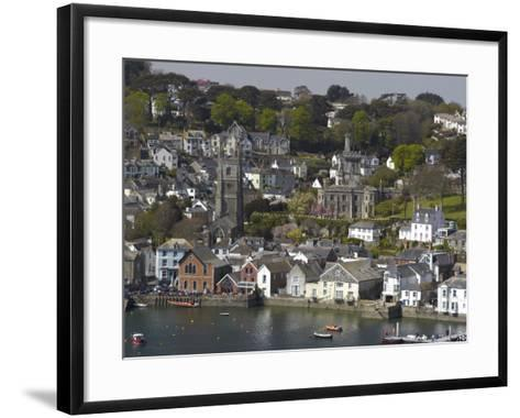 View from Penleath Point, Fowey, Cornwall, England, United Kingdom, Europe-Rob Cousins-Framed Art Print