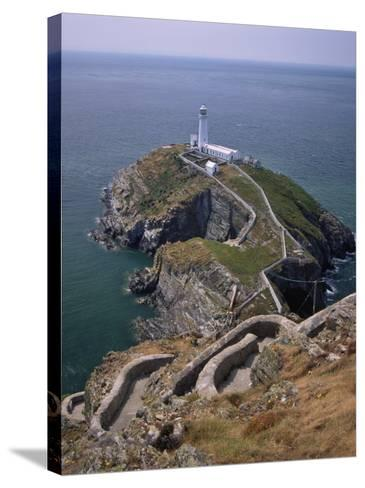 South Stack Lighthouse on the Western Tip of Holy Island, Anglesey-Nigel Blythe-Stretched Canvas Print