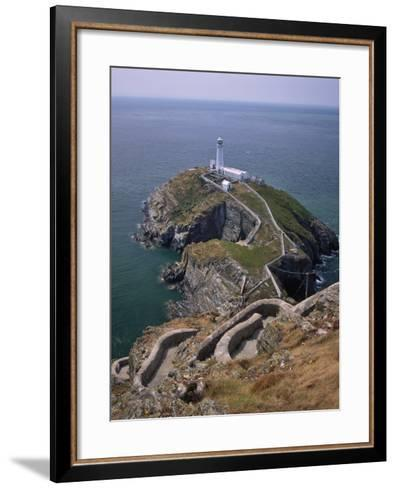 South Stack Lighthouse on the Western Tip of Holy Island, Anglesey-Nigel Blythe-Framed Art Print