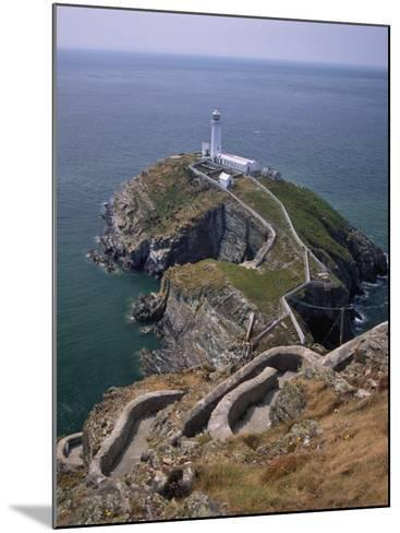 South Stack Lighthouse on the Western Tip of Holy Island, Anglesey-Nigel Blythe-Mounted Photographic Print