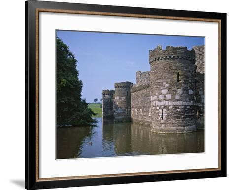 Moat and Outer Curtain Wall at Beaumaris Castle-Nigel Blythe-Framed Art Print
