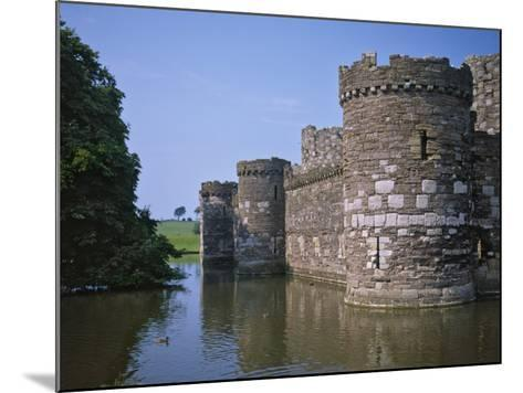 Moat and Outer Curtain Wall at Beaumaris Castle-Nigel Blythe-Mounted Photographic Print