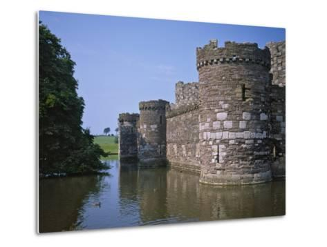 Moat and Outer Curtain Wall at Beaumaris Castle-Nigel Blythe-Metal Print