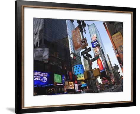 Times Square, Manhattan, New York City, New York, United States of America, North America-Amanda Hall-Framed Art Print