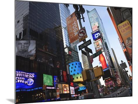 Times Square, Manhattan, New York City, New York, United States of America, North America-Amanda Hall-Mounted Photographic Print