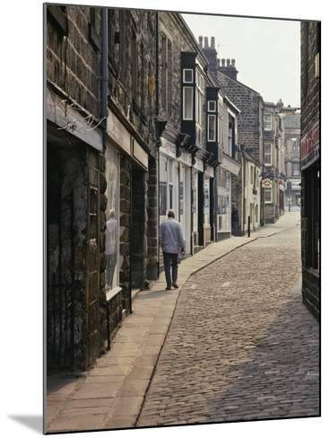 Cobbled Side Street in Otley, Yorkshire, England, United Kingdom, Europe-Nigel Blythe-Mounted Photographic Print