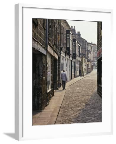 Cobbled Side Street in Otley, Yorkshire, England, United Kingdom, Europe-Nigel Blythe-Framed Art Print