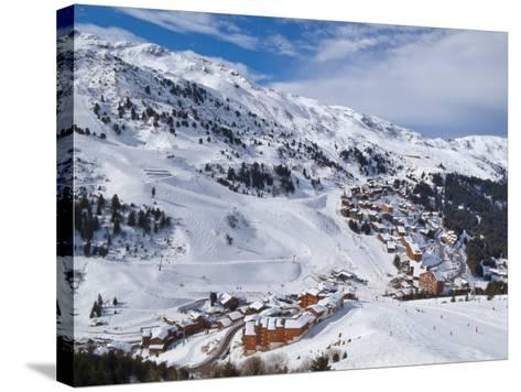 Meribel-Mottaret, 1750M, Ski Area, Meribel, Three Valleys, Savoie, French Alps-Gavin Hellier-Stretched Canvas Print