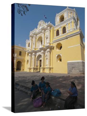 La Merced Church, Antigua, UNESCO World Heritage Site, Guatemala, Central America-Sergio Pitamitz-Stretched Canvas Print