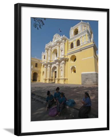 La Merced Church, Antigua, UNESCO World Heritage Site, Guatemala, Central America-Sergio Pitamitz-Framed Art Print