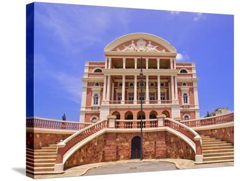 Opera House, Manaus, Amazonas, Brazil, South America-Nico Tondini-Stretched Canvas Print