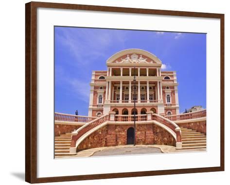 Opera House, Manaus, Amazonas, Brazil, South America-Nico Tondini-Framed Art Print