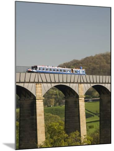 Narrow Boat Crossing the Pontcysyllte Aqueduct, Built by Thomas Telford and William Jessop-Richard Maschmeyer-Mounted Photographic Print