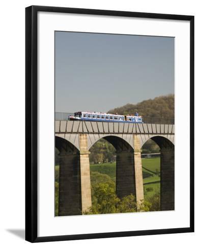 Narrow Boat Crossing the Pontcysyllte Aqueduct, Built by Thomas Telford and William Jessop-Richard Maschmeyer-Framed Art Print